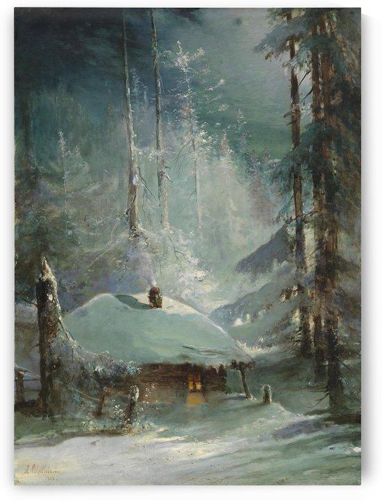 Winter landscape by Alexei Kondratyevich Savrasov