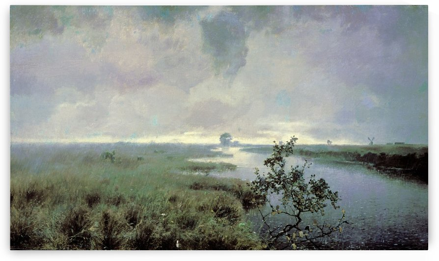 An afternoon in the fields by Alexei Kondratyevich Savrasov