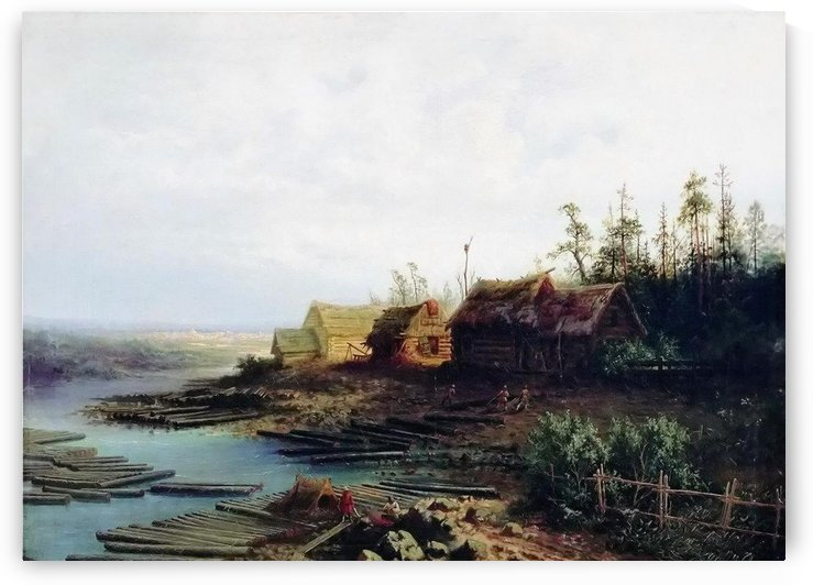 A few cottages by the river by Alexei Kondratyevich Savrasov