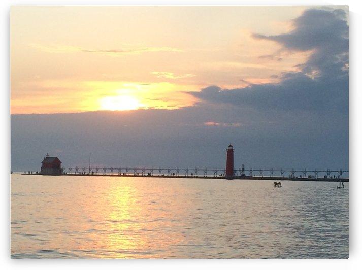 Lake Michigan Sunset 3 by Ohio In Print