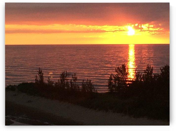 Lake Michigan Sunset 2 by Ohio In Print