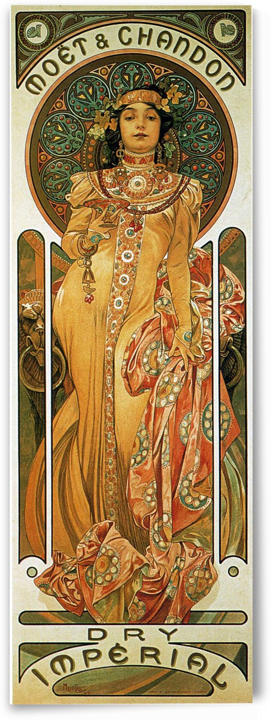 Moet & Chandon Dry Imperial by Alphonse Mucha