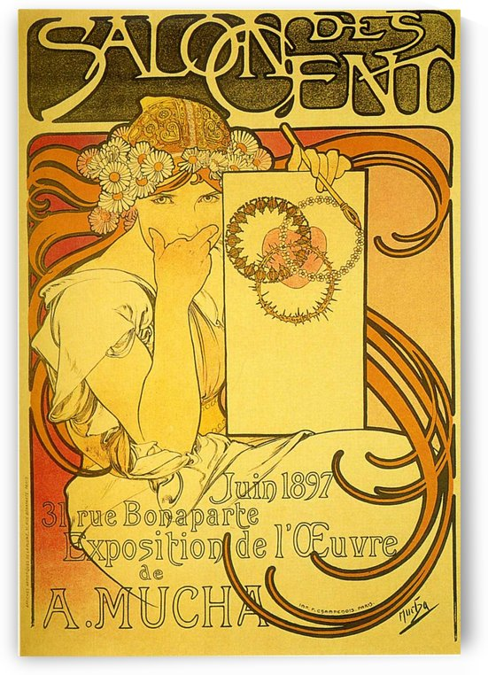 Salon of the Hundred, 1897 by Alphonse Mucha