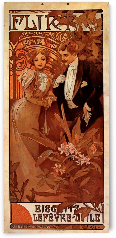 Flirt Lefevre Utile, 1899 by Alphonse Mucha
