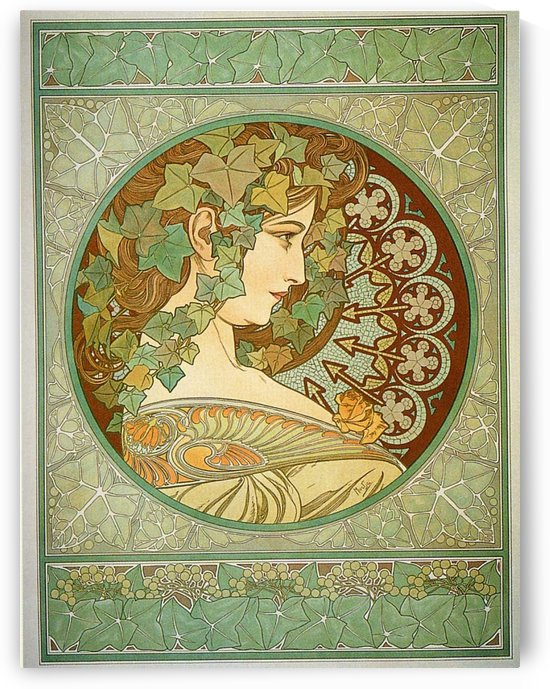 Laurel, 1901 by Alphonse Mucha