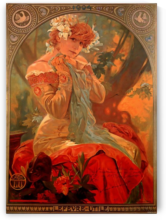 Lefevre Utile, 1903 by Alphonse Mucha