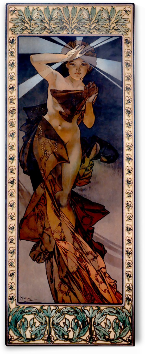 Lightning morning star by Alphonse Mucha