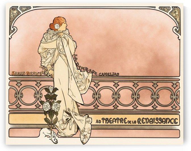 La Dame aux Camelias poster by Alphonse Mucha
