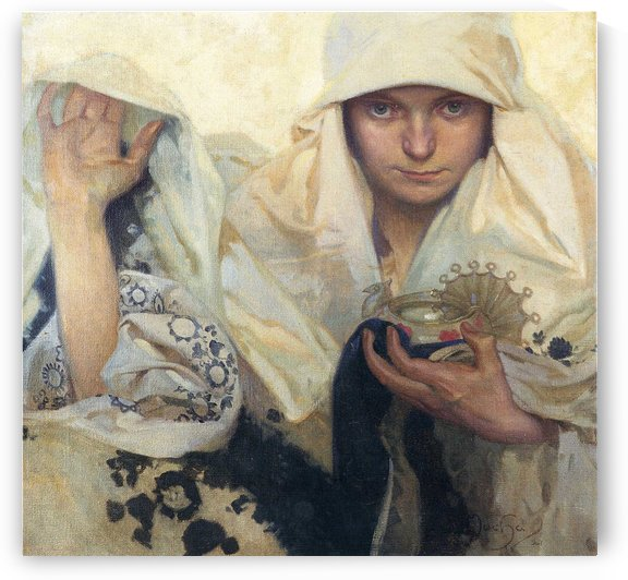 Fate, 1920 by Alphonse Mucha