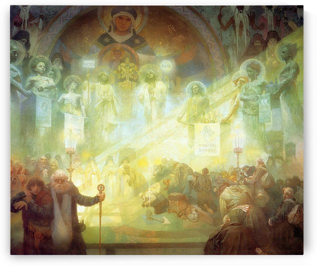 Holy Mount Athos, 1926 by Alphonse Mucha