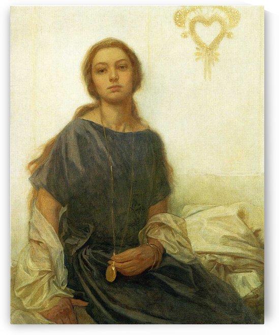 1930 Portrait of Jaroslava by Alphonse Mucha