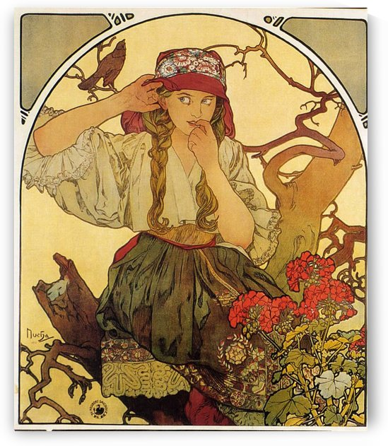 Moravian teachers choir by Alphonse Mucha