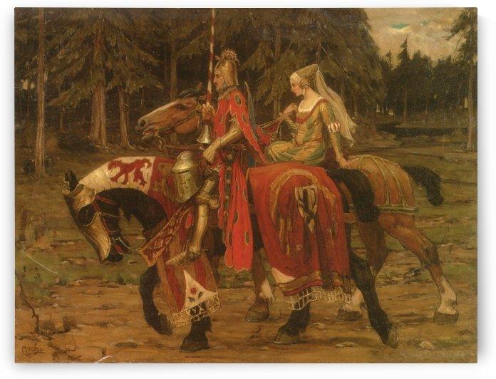 Heraldic Chivalry by Alphonse Mucha