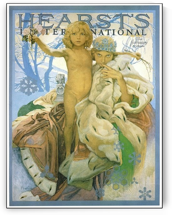 Hearst's International by Alphonse Mucha