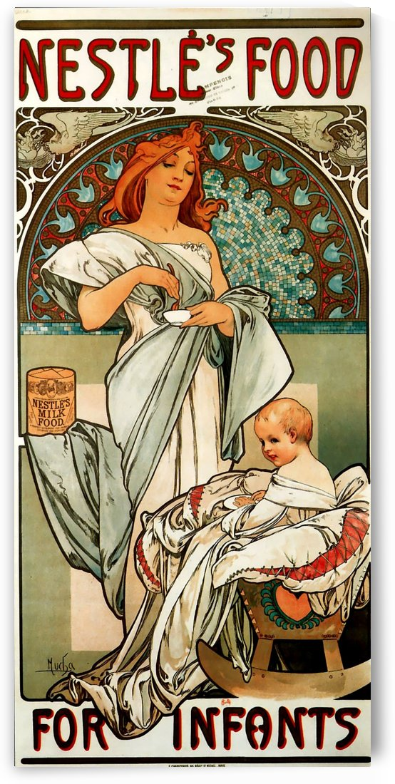 Nestle food for infants by Alphonse Mucha