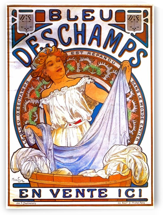Bleu Deschamps by Alphonse Mucha