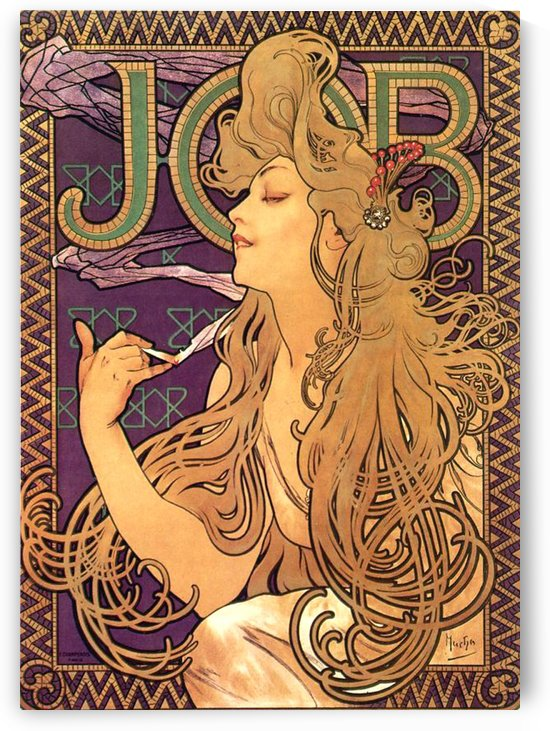 Job Cigarettes by Alphonse Mucha