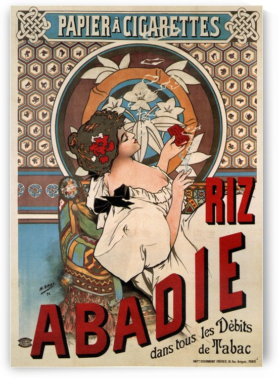 Abadie cigarettes rolling paper 1898 by Alphonse Mucha