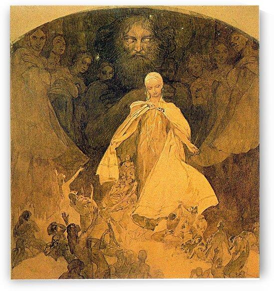 Worshiping the gods by Alphonse Mucha
