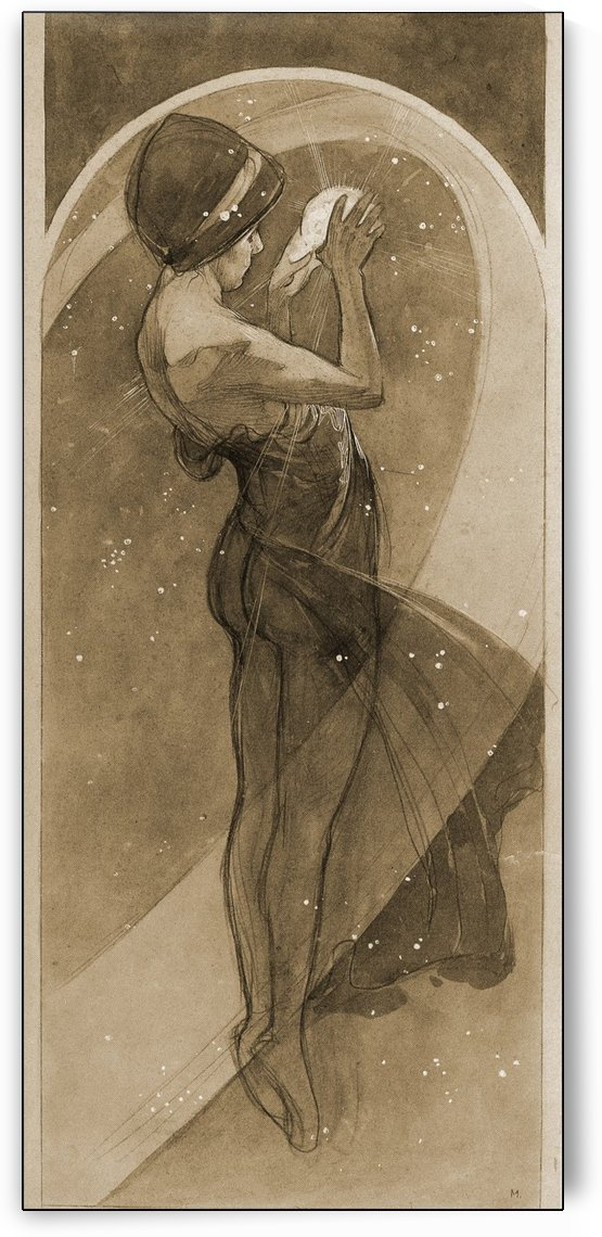 The moon and the stars by Alphonse Mucha