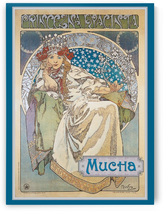Princezna Hyacinta boxed note card by Alphonse Mucha