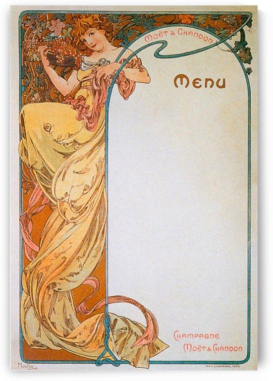 1899 Moet - Chandon menu by Alphonse Mucha