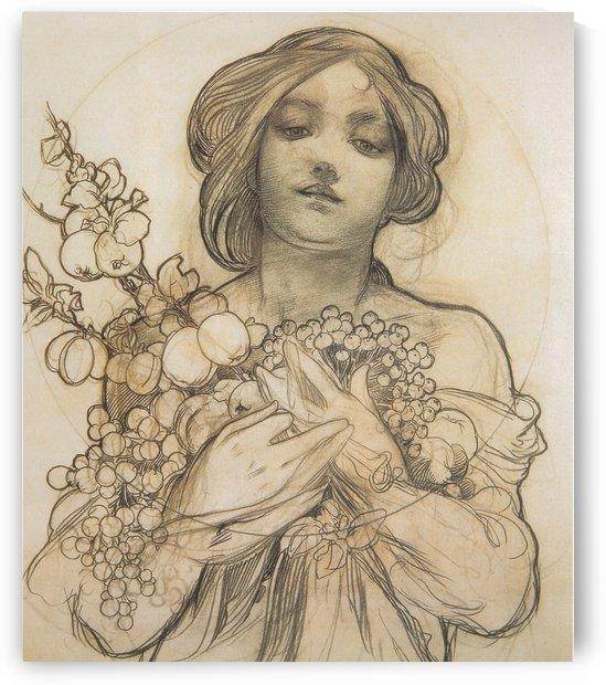 Ophelia Violetta by Alphonse Mucha