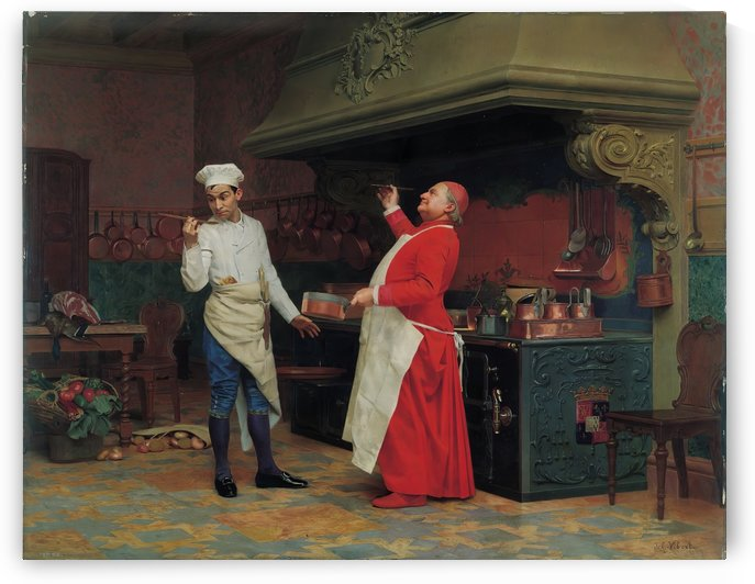 The Marvelous Sauce ca 1890 by Jehan Georges Vibert