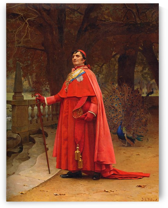 The cardinals and Cardinals by Jehan Georges Vibert
