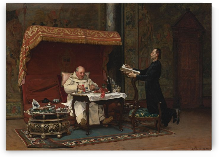 The canon's dinner by Jehan Georges Vibert