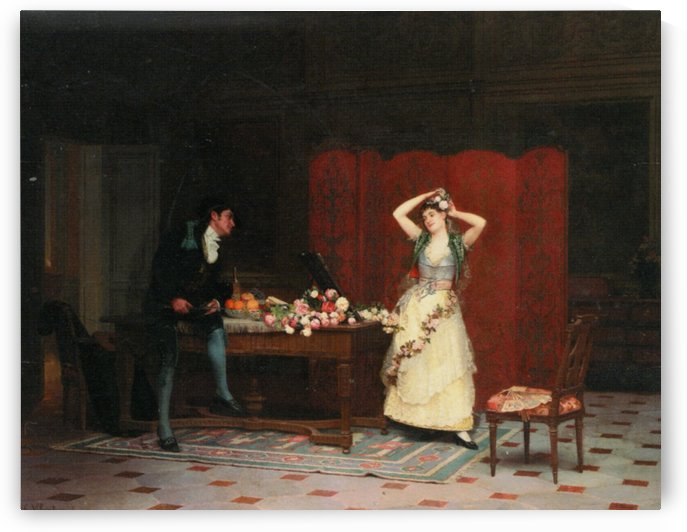 The Duet with a couple by Jehan Georges Vibert