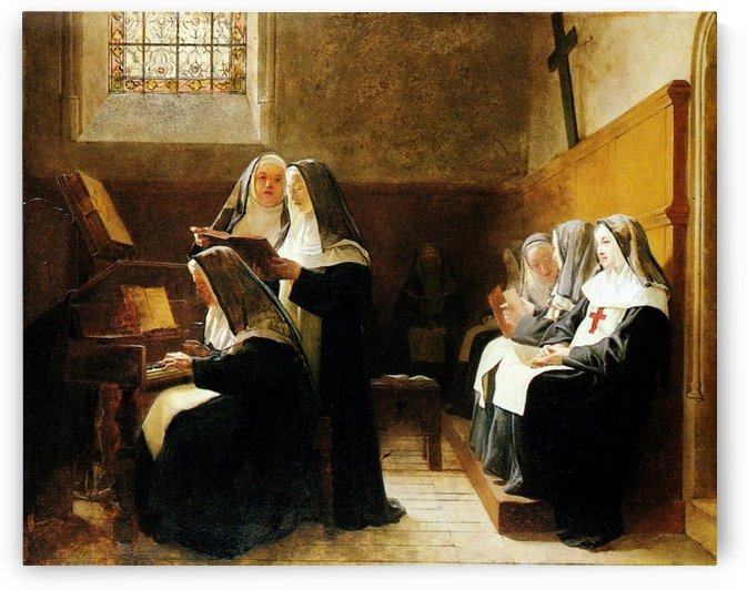 The Musical Nuns by Jehan Georges Vibert