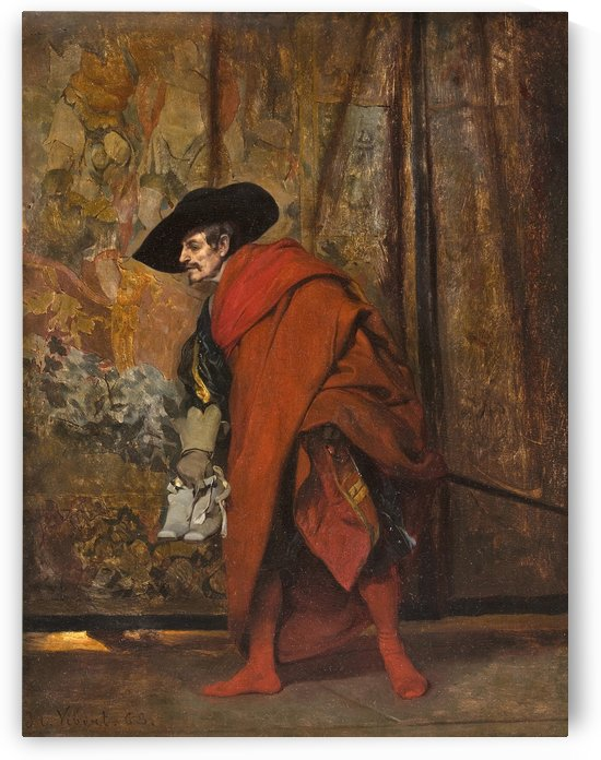 Polonius behind the curtain by Jehan Georges Vibert