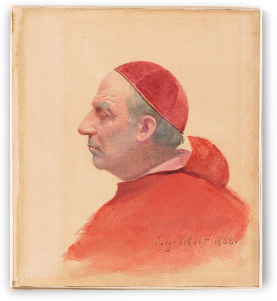 Portrait of a cardinal by Jehan Georges Vibert