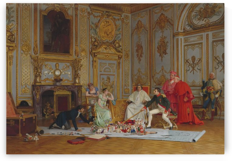 Planning Napoleon's coronation by Jehan Georges Vibert