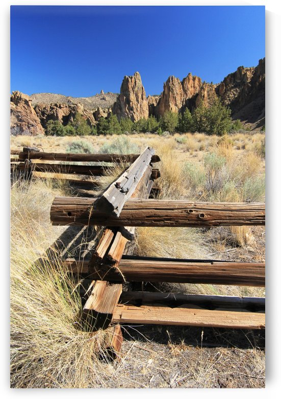 Rail Fence at Smith Rocks by John Foster
