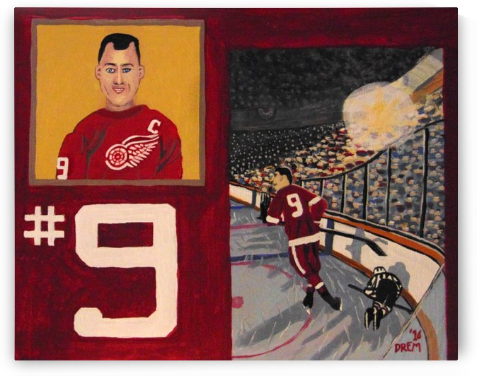 Gordie Howe Player Card Painting by lightsavour