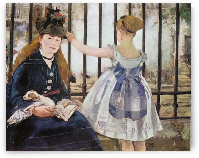 Le_Chemin_de_fer_1873 by Manet by Manet