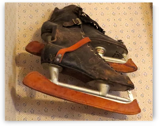 Antique Ice Skates by Vicki Polin