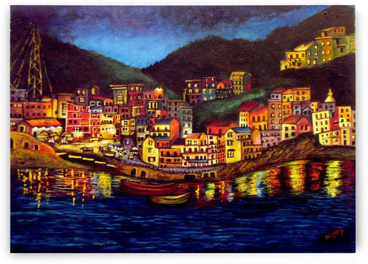 Cinique Terre Impression by Mrs Neeraj Parswal