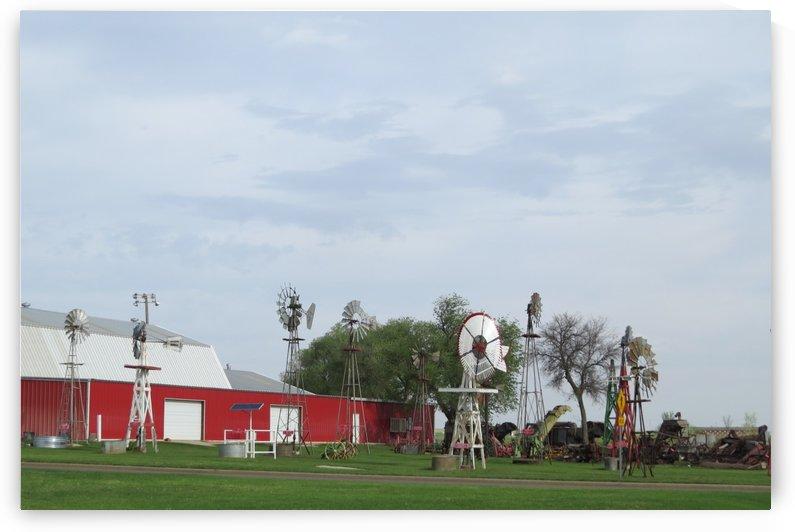 Windmills in Elk City, OK by Vicki Polin