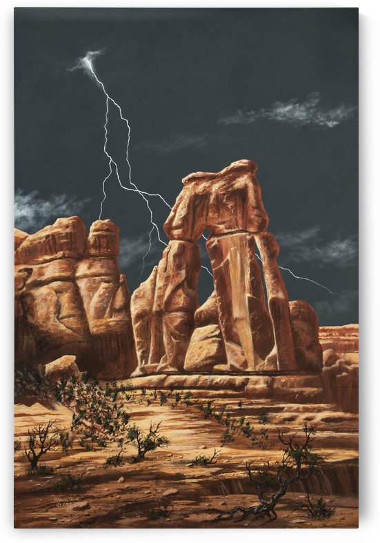Storm over Druid Arch by John Foster