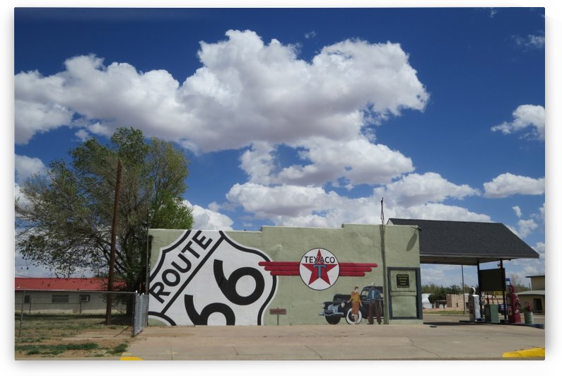 Route 66 Gas Station in Tucumcari, NM by Vicki Polin
