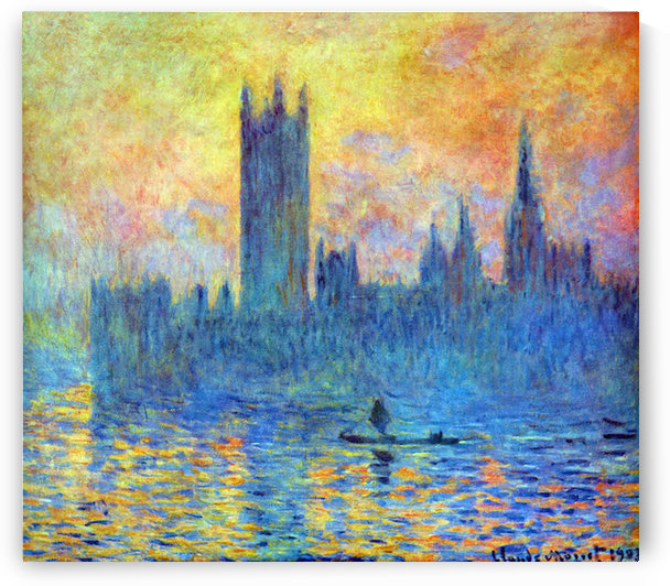 London Parliament in Winter by Monet by Monet