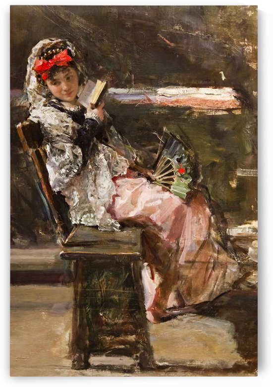 A girl reading on a summer day by Ricardo de Madrazo y Garreta