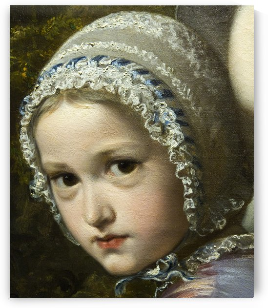 Head of a baby by Ricardo de Madrazo y Garreta