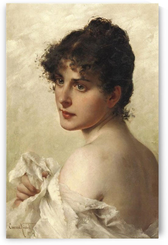 Portrait of a beautifull woman by Ricardo de Madrazo y Garreta