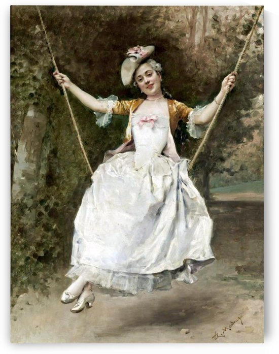 Girl on a Swing by Ricardo de Madrazo y Garreta