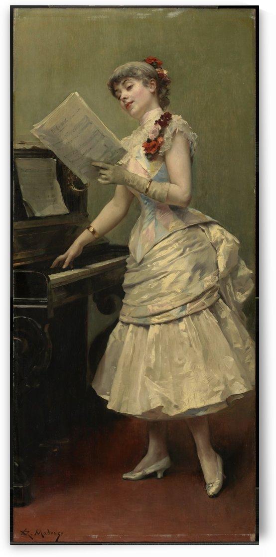 Portrait and A lady by the piano by Ricardo de Madrazo y Garreta