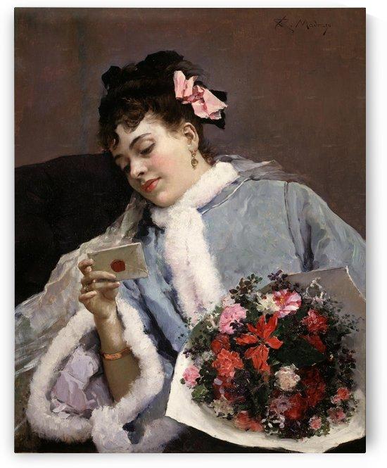Receivig a love letter by Ricardo de Madrazo y Garreta